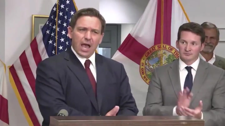 'Do your job first': Ron DeSantis hits back at Biden as Covid-19 cases soar