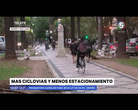 Ciclistas apoyan la ciclovía en Oroño y dicen que no queda otra que prohibir el estacionamiento