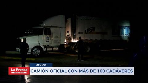 Camió oficial de México con más de 100 cadáveres