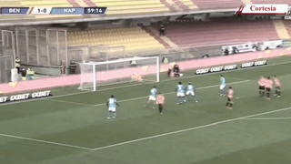 Insigne y Patagna le dan el triunfo de 2-1 al Nápoles sobre el Benevento