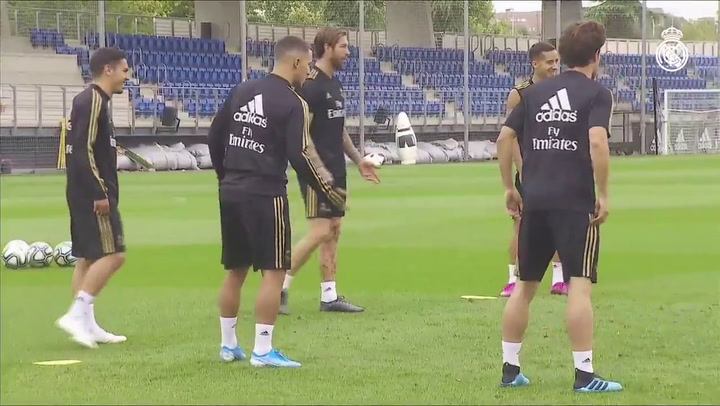 Último entrenamiento del Madrid previo al partido contra el Levante sin Fede Valverde, lesionado