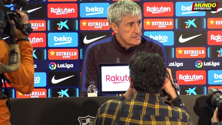 La rueda de prensa de Quique Setién, previa del partido del Barça contra el Levante