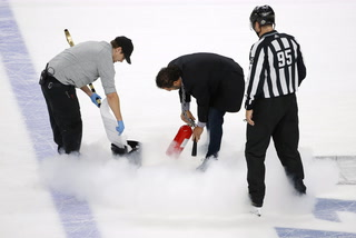 T-Mobile Arena ice guru defends quality of Knights home ice