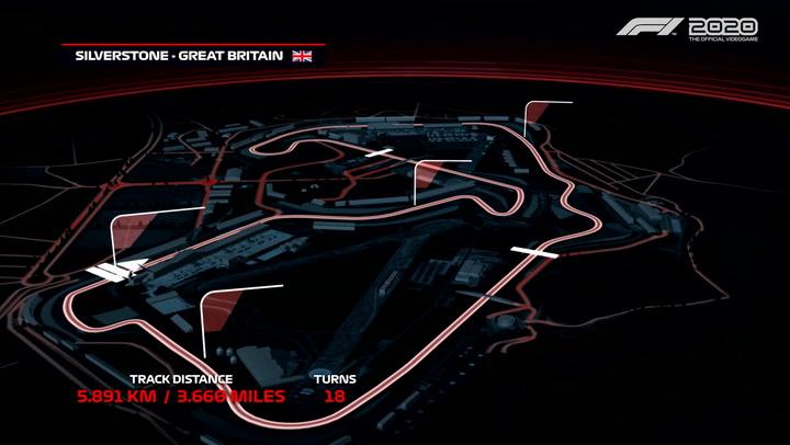 F1 2020 presenta una vuelta rápida al circuito de Silverstone