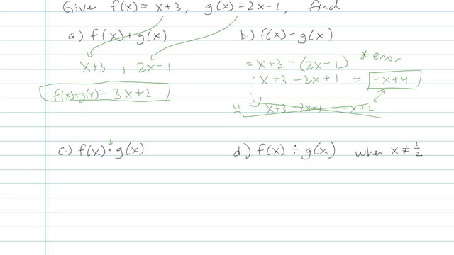 Function Notation - Problem 6