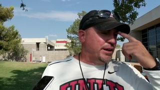 UNLV's Tony Sanchez on Sunday's practice