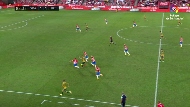 Gol de Canales (1-2) en el Granada 1-2 Betis