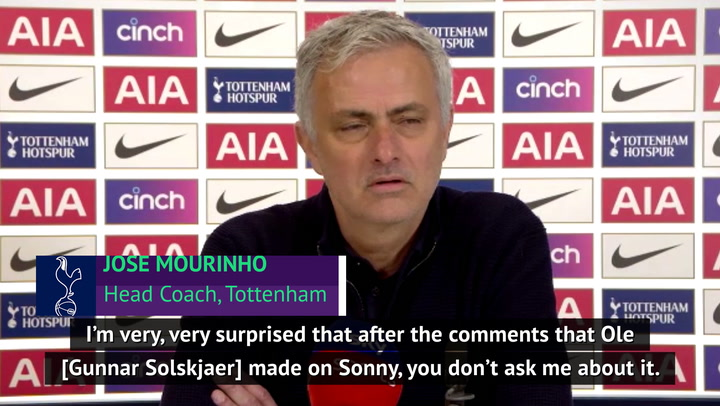 Sonny is very lucky that his father is a better person than Ole - Mourinho reacts to Solskjaer jibe