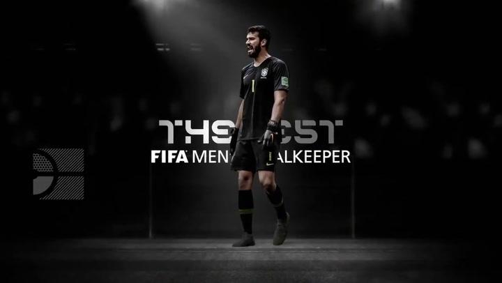 Alisson se lleva el premio The Best al mejor portero de la FIFA 2019