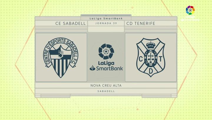 LaLiga SmartBank (J39): Resumen y goles del Sabadell 0-2 Tenerife