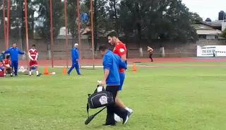 Martín Bonjour recibe duro golpe en amistoso del Olimpia
