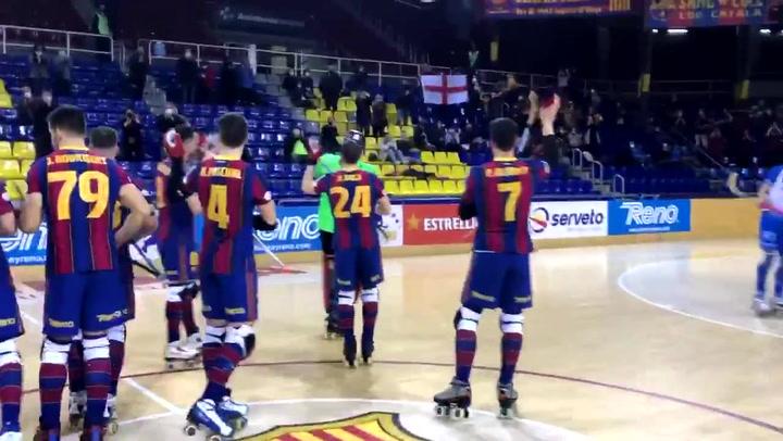 Victoria del Barça con público en el Palau 385 días después
