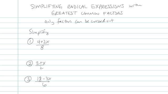 Simplifying Rational Functions with Factoring and GCFs - Problem 5