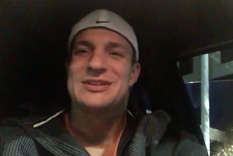 THE GRONK IS READY FOR THE PATRIOTS IN THE PLAYOFFS