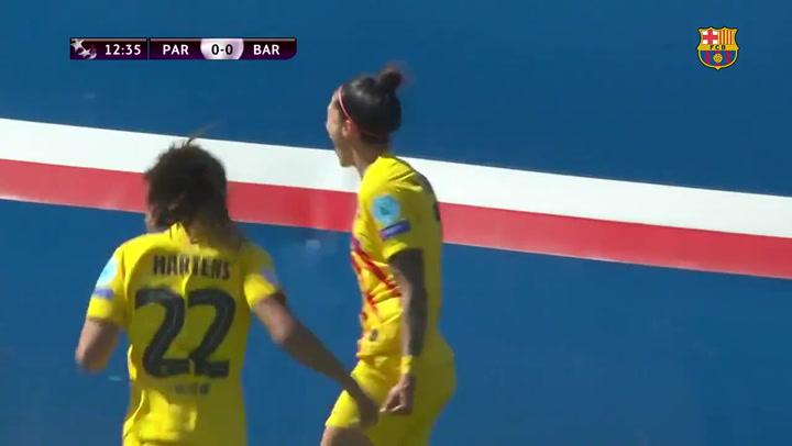 Resumen del PSG (1) - (1) Barça de la Champions League femenina