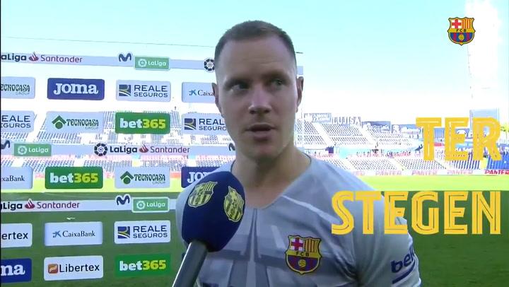 Ter Stegen explicó su asistencia de gol a Luis Suárez en Getafe