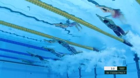 Ledecky se consuela con oro en 1.500 m de sus decepciones en 200 y 400 m