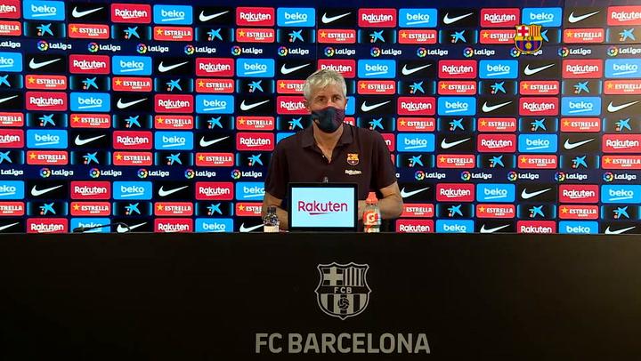 Rueda de prensa de Setién tras la abultada victoria frente al Mallorca