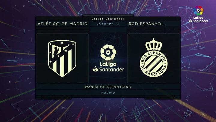 LaLiga Santander (J13): Resumen y goles del Atlético de Madrid 3-1 Espanyol