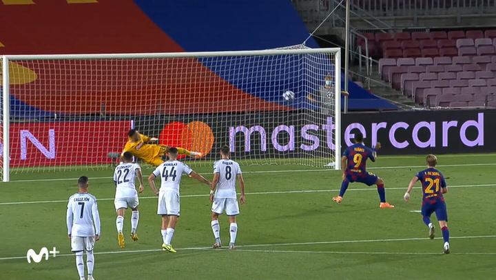 Champions League: Barça - Nápoles. Gol de Suárez (3-0)