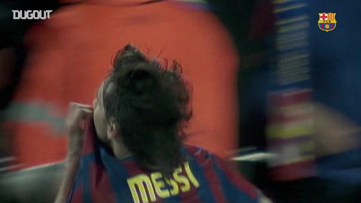 Leo Messi Scores Four Against Arsenal