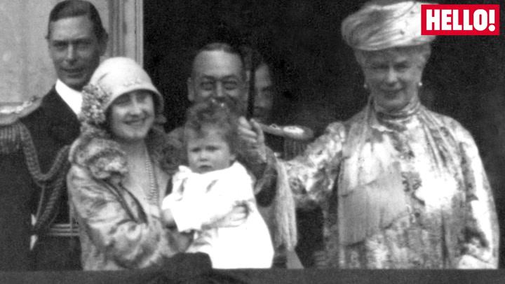 Royal family members as babies