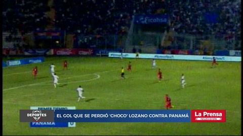 El gol que se perdió 'Choco' Lozano contra Panamá