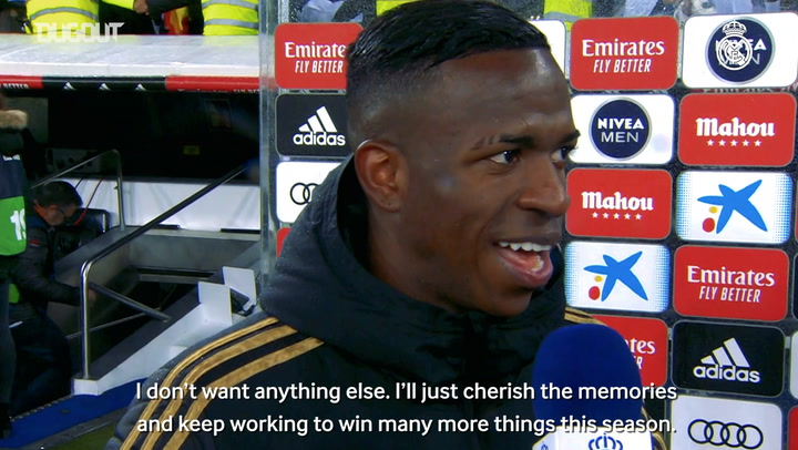 Vinicius Jr: 'It's my best night as a Madridista'
