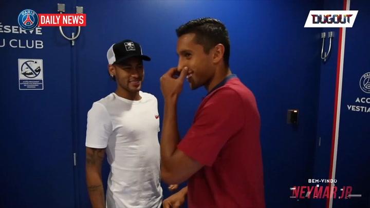 Neymar's First Training Session