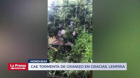Cae tormenta de granizo en Gracias, Lempira