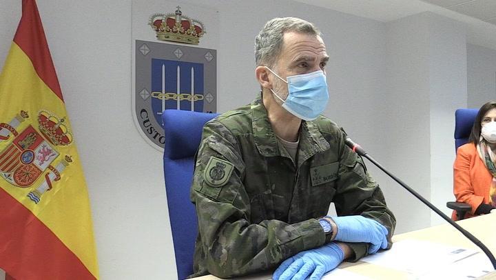 El Rey visita el mando de operaciones mientras la Reina continúa con el trabajo desde Zarzuela