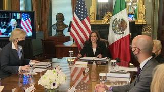 Harris y López Obrador prometen cooperar para resolver crisis en la frontera