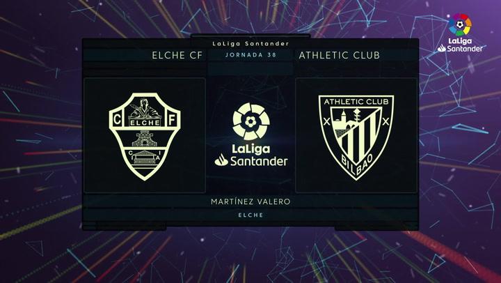 LaLiga (J38): Resumen y goles del Elche 2-0 Athletic