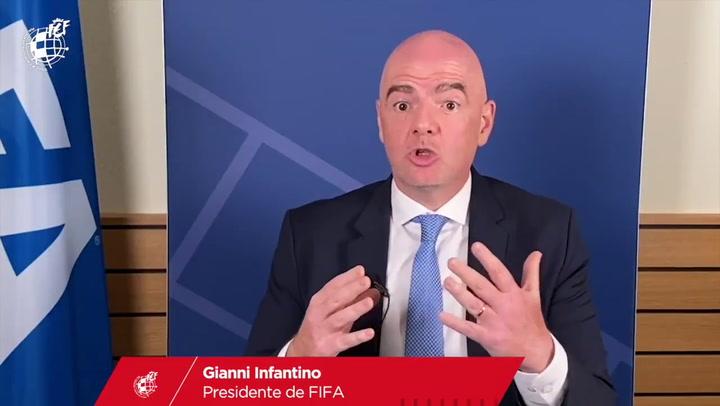 Gianni Infantino cree que la salud es lo primero