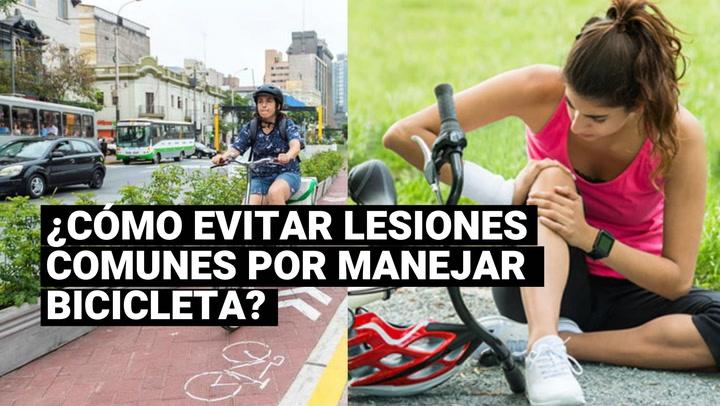 Conoce cómo evitar lesiones comunes al manejar bicicleta