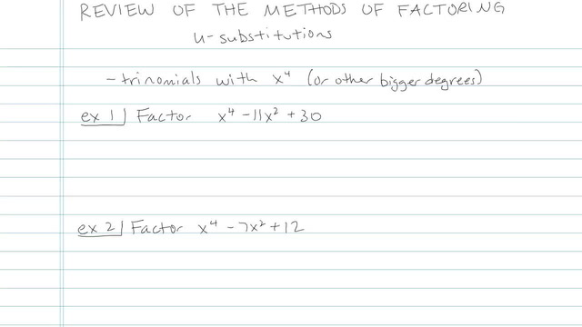 Review of the Methods of Factoring - Problem 6