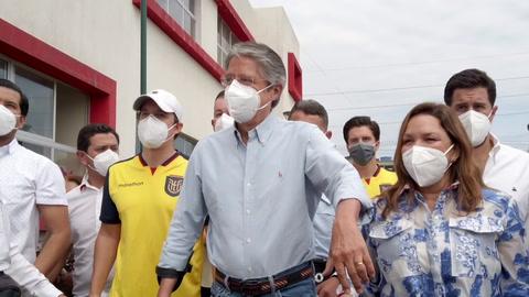 Lasso, a la cabeza del balotaje presidencial en Ecuador en escrutinio