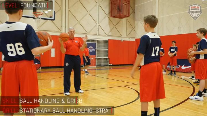 Stationary Ball Handling - Straight Arm Taps