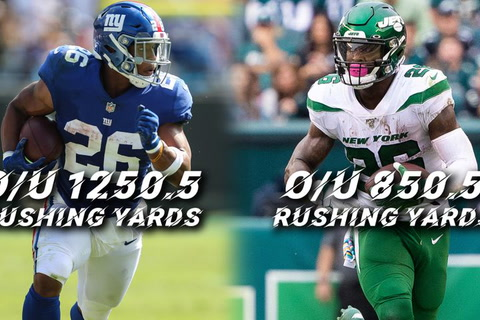 Barkley and Bell: What are the odds on rushing yards