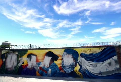 Autor del mural en El Hato: