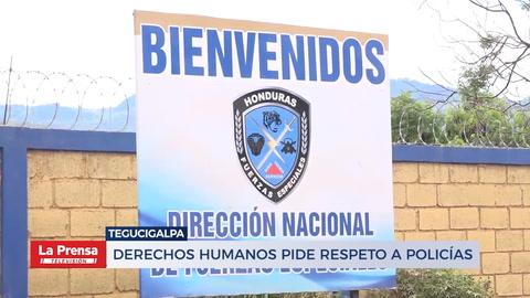 DDHH pide respero a policías