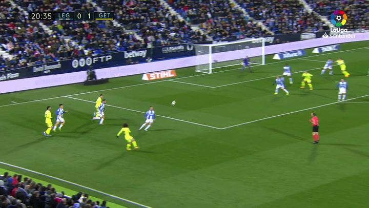 Gol de Nyom (0-2) en el Leganés 0-3 Getafe