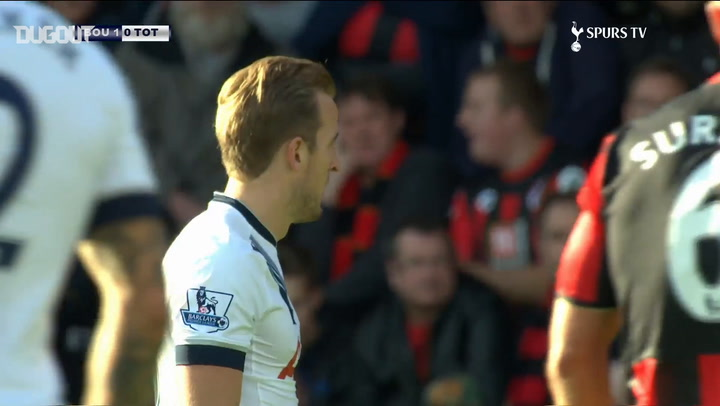 Harry Kane's hat-trick downs Bournemouth