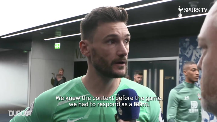 Hugo Lloris: 'We knew we had to respond as a team'