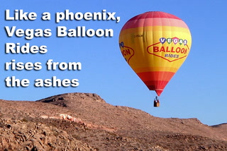 Like a phoenix, Vegas Balloon Rides rises from the ashes
