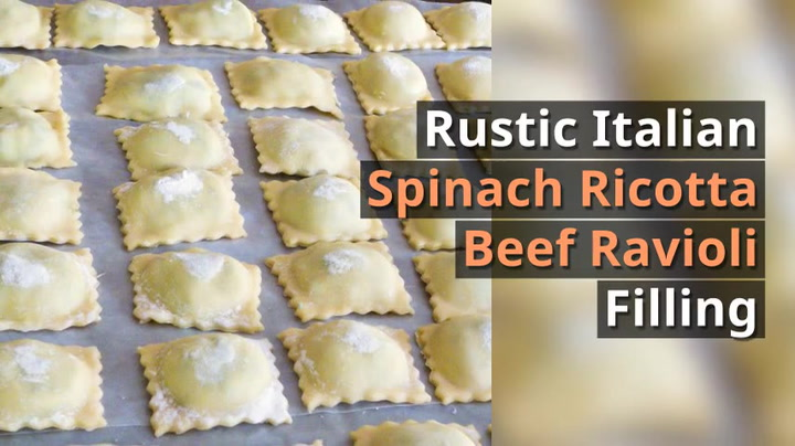 Italian Ravioli With Meat Cheese Filling All Our Way