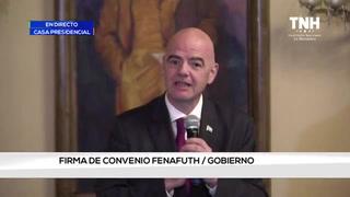 Presidente de la FIFA, Gianni Infantino, se encuentra en Honduras
