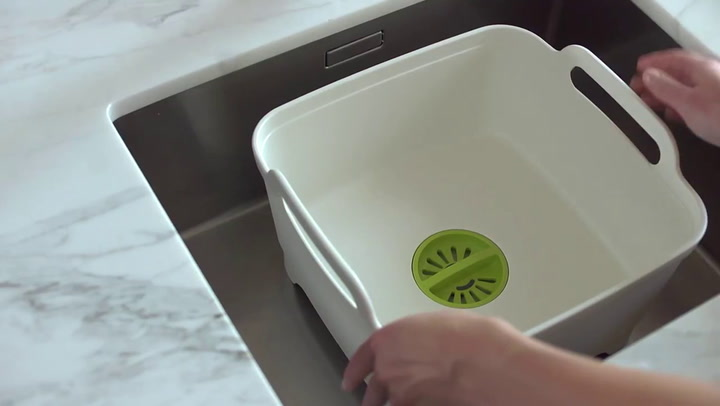 Preview image of Joseph Joseph Wash & Drain Washing Up Bowl video