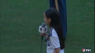 Niña de 7 años cautiva a Zlatan al cantar el Himno de Estados Unidos