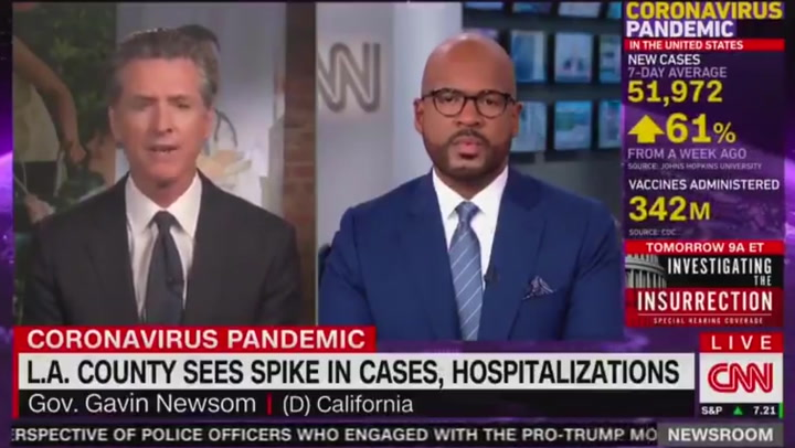 California Governor compares unvaccinated people to drunk drivers